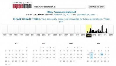Historia domeny seostation.pl