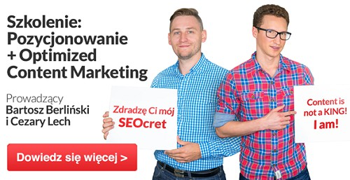 Szkolenie: Pozycjonowanie + Optimized Content Marketing
