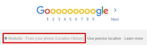 Google - historia lokalizacji telefonu