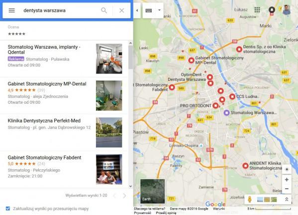 Rekalmy Google Maps dekstop
