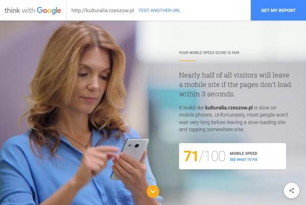 mobile speed nowe narzedzie google