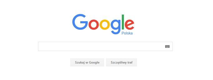 Tradycyjny wygląd strony google.pl