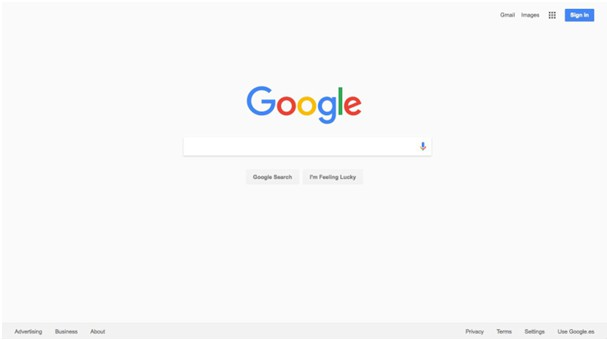 Widok testowy strony google.pl