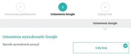 Ustawienia Google