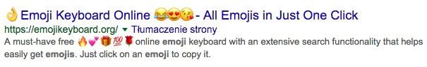 emoji w serpach
