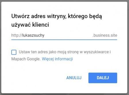 strony w google