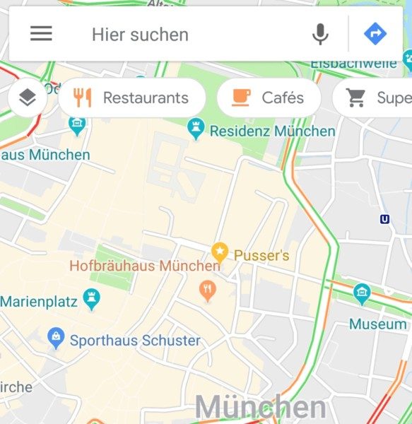 google maps kategorie