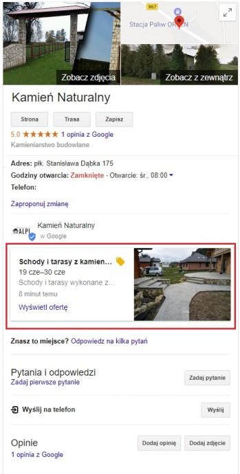 gmap widok oferty