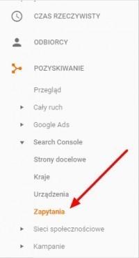 Inne zapytania w Google Analytics